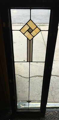 "Antique 1920's Stained Leaded Glass Door / Window 47"" x 16"""