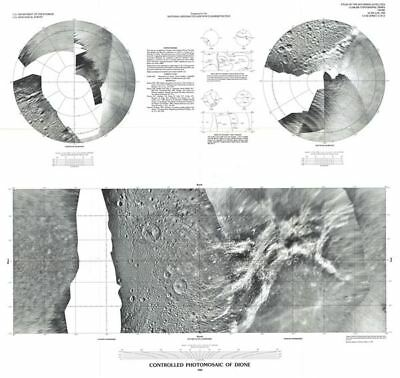 1992 U.S. Geological Survey Map or Photomosaic of Dione, Moon of Saturn