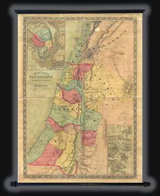 1854 Colton Map of Israel, Palestine, or the Holy Land