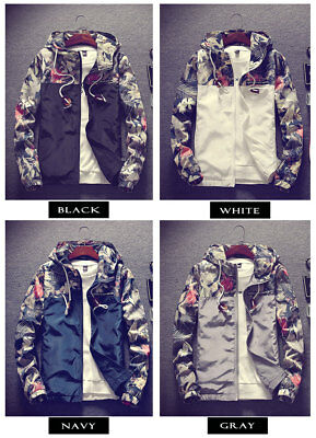 New Men's Slim Collar Jackets Fashion Jacket Tops Casual Coat Outerwear Zipper