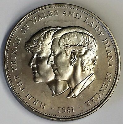 C3908    Great  Britain   Coin,     25  Pence   1981  Diana  Weeding Coin