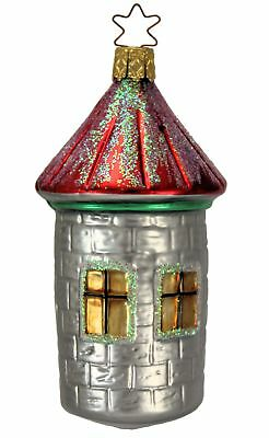 Inge Glas OWC 2029 Castle Tower German Glass Christmas Ornament