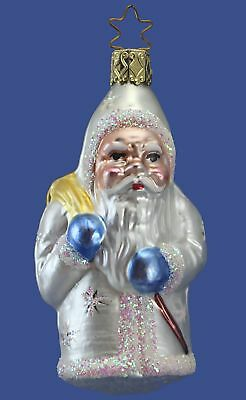 Inge Glas OWC 4157 Snowflake Santa German Glass Christmas Ornament