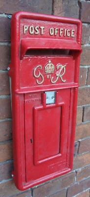 Replica Royal Mail GR Red Postbox Letter Box with Keys - FRONT ONLY - Cast Iron