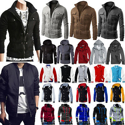 Mens Casual Hoodie Jacket Winter Sweatshirt Coat Outwear Sweater Top Tracksuit