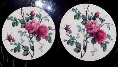 "Collection of two vintage 92  limited edition Roy Kirkham plates ""English Rose"""