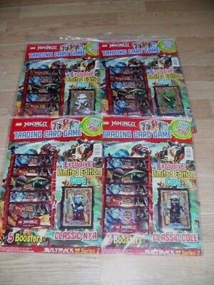 Lego Ninjago Trading Cards Series 2 Multipack 5 Booster Packets +Limited Edition