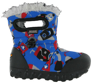 Bogs Wellingtons Boots Baby BMOC Monsters Waterproof -20 Fur Lined Kids UK 6-12