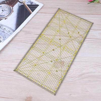 Clear Acrylic Quilt Grid Ruler Patchwork Tailor DIY Cutting Sewing Ruler 30X15cm