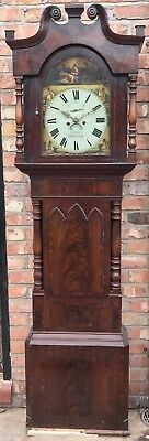 Majestic Flame Mahogany Long Case Grandfather Clock By Jarvis Whitchurch