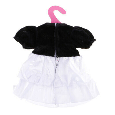 Fashion Party Clothes Black White Princess Dress for 18'' American Girl Doll