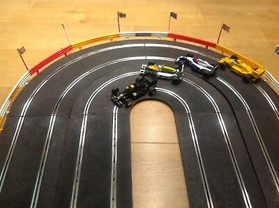 Scalextric Classic Track Pt56 Hairpin 4 Lane Extension Set Barriers Exc Cond