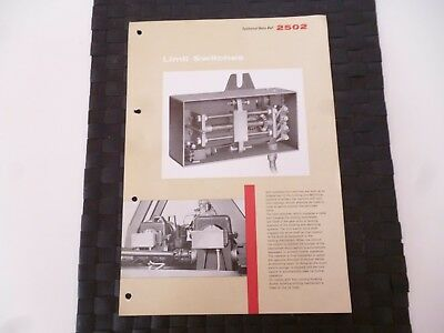 Coles Limit Switches Ref. 2502 Electro Mechanical Brakes Leaflet *as Pictures*
