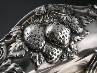 "Fabulous Sterling 7 1/2"" Bowl w/ ornate Strawberry Repousse"