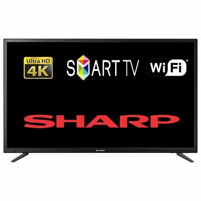 "Sharp LC-49CUG8052K 49"" Smart LED TV 4K Ultra HD With WiFi & Freeview HD Tuner"