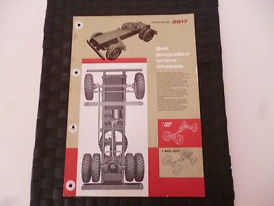 Coles Self Propelled Crane Chassis Ref: 2517 Leaflet/pamphlet *as Pictures*