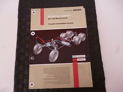 Coles Crane Braking System Air/mechanical Truck Mounted 2533 Leaflet *pictures*