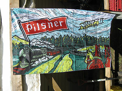 Old Style Pilsner Saskatchewan roughriders cfl founding partner flag Rider
