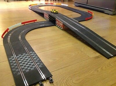 Scalextric Classic Track 20 Piece Ultimate Flyover Extension Set Barriers Exc