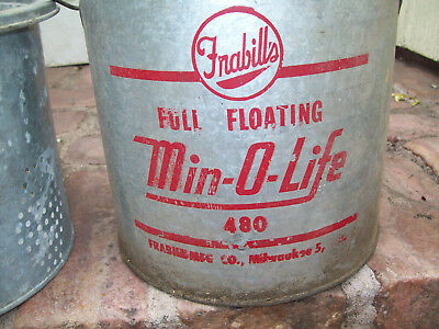ANTIQUE MINNOW BUCKET- FRABILL's-Vintage-Use it for Fishing, Bait or Decoration
