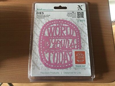 Xcut Cutting Dies (2pcs) - The World Is Yours Free Post