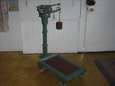 Early Fairbanks Platform Scale Brass Cast Iron Art Deco Old Vintage Industrial