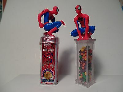 Two Different Spider-Man Candy Containers