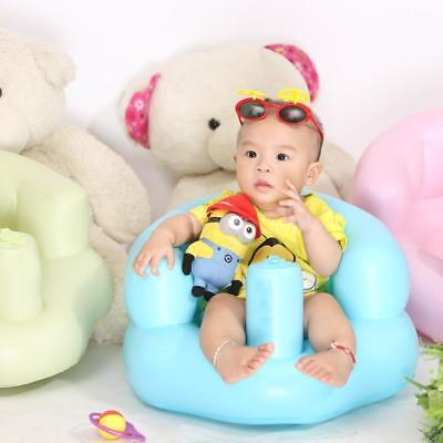 Inflatable Baby Chair Kids Sofa Training seat Pushchair for Bathing Beach W6H6