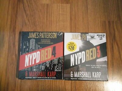 2 James Patterson NYPD RED 3 & 4- Unabridged - CDS - Brand New