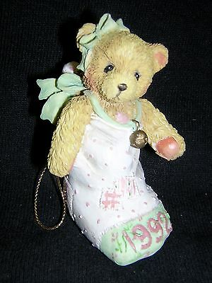 CHERISHED TEDDIES 1992 BEAR IN STOCKING Dated Ornament NEW!!! CHRISTMAS