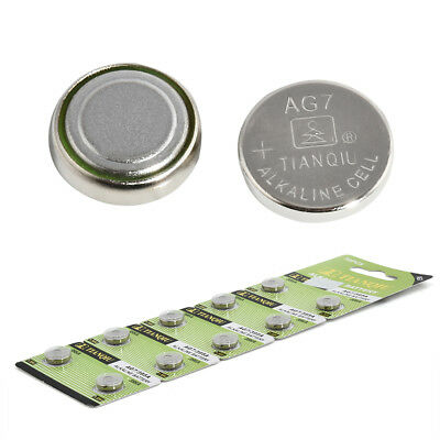 10× AG7 LR927 395 SR927 195 1.5V Alkaline Coin Button Cells Watch Battery Sturdy