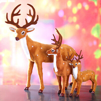 Plush Sika Deer Xmas Party Decor Ornament Halloween Reindeer New Year Toy Gift