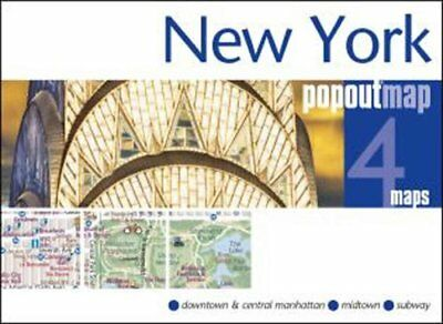 New York PopOut Map by PopOut Maps 9781910218112 (Sheet map, folded, 2016)