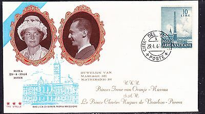 Vatican 1964 Royal Wedding First Day Cover