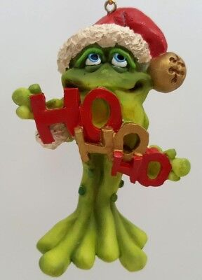 Doug Harris Adorable Christmas Frog Toadily Yours Toad in Ho Ho Ho Ornament MIB