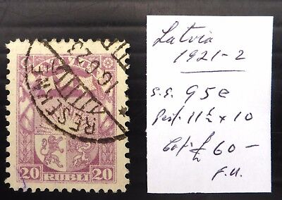 LATVIA 1921 SG95e Fine/Used As Described NB3196