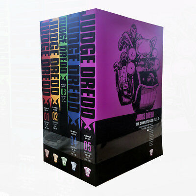 Judge Dredd Complete Case Files Volume 1-5 Collection 5 Books Set (Series 1)