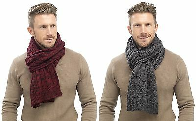 Tom Franks Mens Chunky Cable Knit Scarf