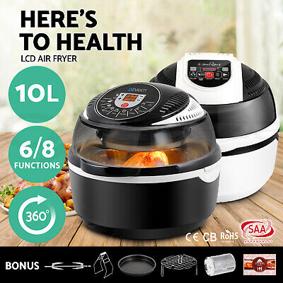5-Star Chef 10L Air Fryer 6/8 Function Oven Deep Cooker Frying Accessories Rack