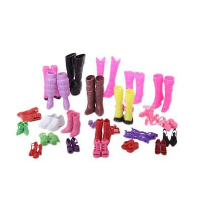 25 Pairs High heel Shoes sandals boots For Barbie Doll Clothes Dress Up Accs
