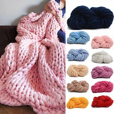 1 Ball DIY Chunky Wool Yarn Super Soft Bulky Arm Knitting Wool Roving Crocheting