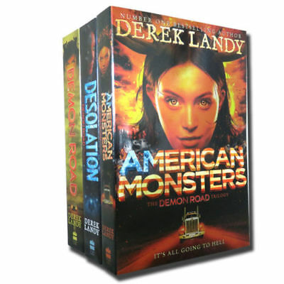 The Demon Road Trilogy Derek Landy 3 Books Collection Set (1-3) American Monster
