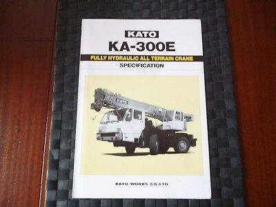 Kato Ka 300E Fully Hydraulic All Terrain Crane Specification Leaflet *as Pics*