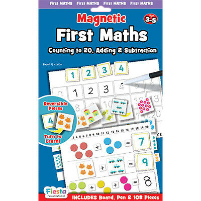 Fiesta Crafts Magnetic First Maths Counting to 20 Adding Subtracting Magnet Set