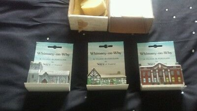 Whimsey On Why Village 1 Porcelain Wade England Old Complete Box House Figurines