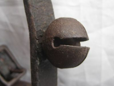 """One(1)Vintage Horse Sleigh Bell On A 3"""" Piece Of Original Harness       #d-227"""