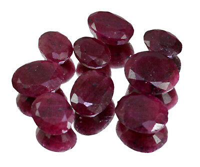 Natural Red Ruby Faceted Loose Gemstone Wholesale Lot For Ring Size