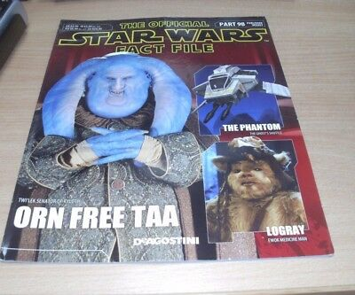 The Official Star Wars Fact File magazine Partwork #98 Orn Free Taa, Logray &