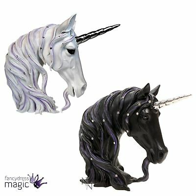 Nemesis Now Unicorn Jewelled Magnificence Midnight Bust Home Gift Decoration
