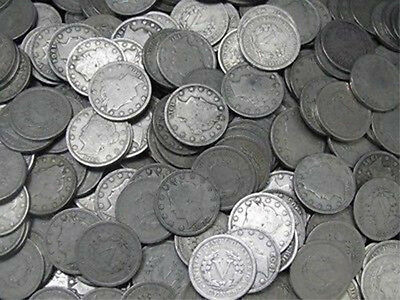 1890 to 1912 Lot of 20 Liberty Head Nickels / Readable Date